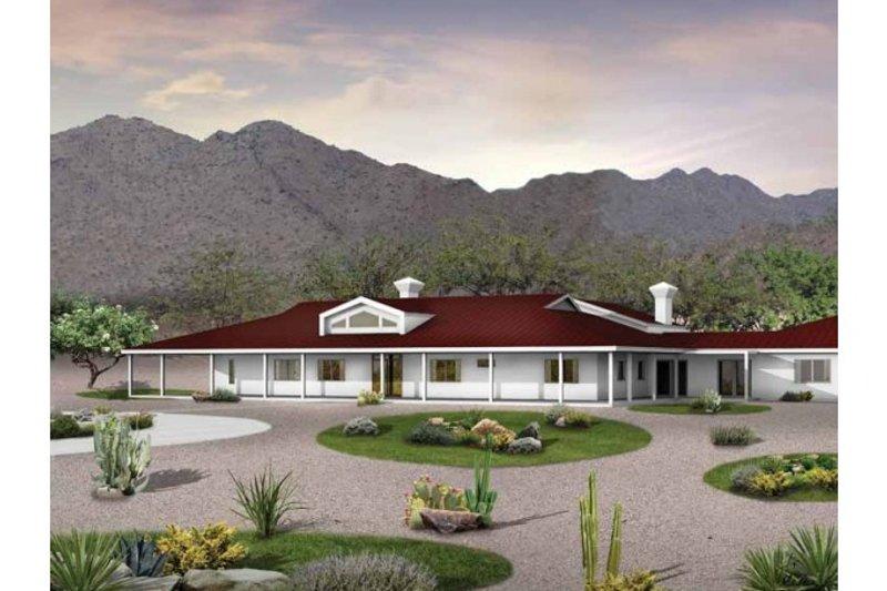 House Blueprint - Ranch Exterior - Front Elevation Plan #72-390