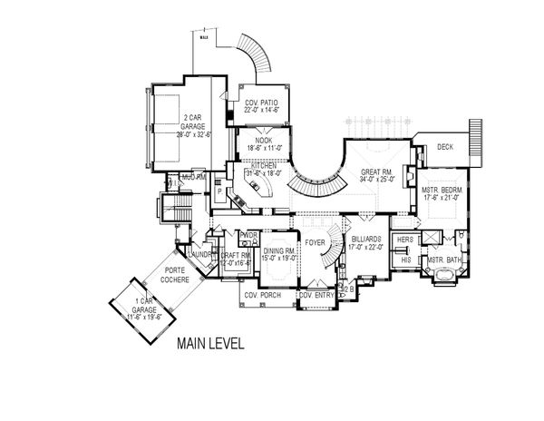 European Floor Plan - Main Floor Plan Plan #920-126