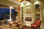 Mediterranean Style House Plan - 4 Beds 3 Baths 2908 Sq/Ft Plan #930-14 Interior - Family Room