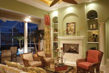 Mediterranean Interior - Family Room Plan #930-14
