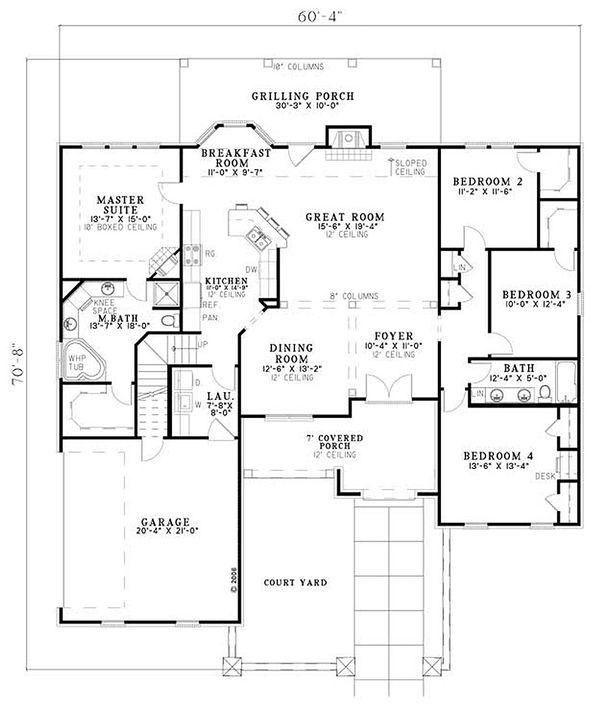 European Floor Plan - Main Floor Plan #17-156