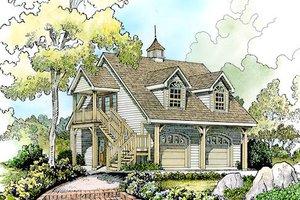 Cottage Exterior - Front Elevation Plan #140-132