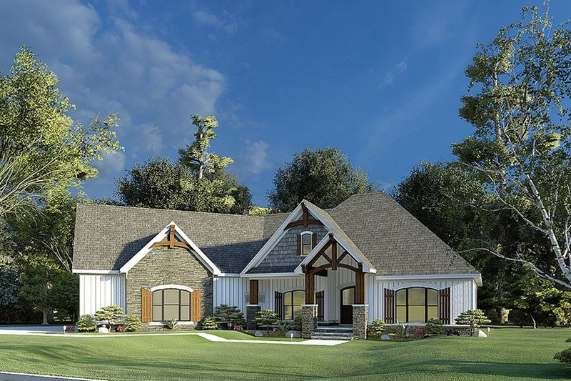 House Plan Design - Craftsman Exterior - Front Elevation Plan #923-192