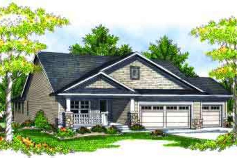 Ranch Exterior - Front Elevation Plan #70-690