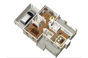Country Style House Plan - 3 Beds 1 Baths 1816 Sq/Ft Plan #25-4682 Floor Plan - Main Floor Plan