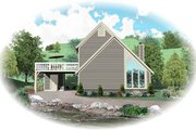 Contemporary Style House Plan - 3 Beds 2 Baths 1272 Sq/Ft Plan #81-13767 Exterior - Front Elevation