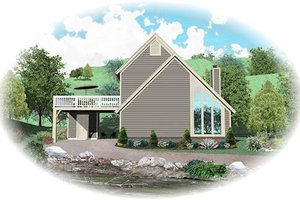 Contemporary Exterior - Front Elevation Plan #81-13767