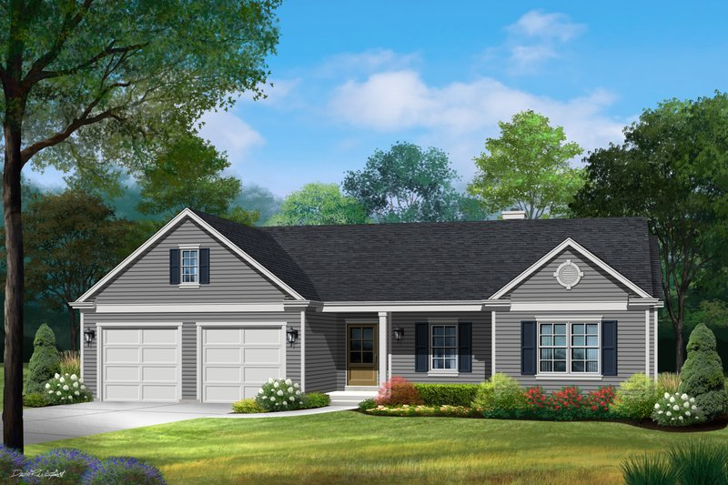 House Plan Design - Ranch Exterior - Front Elevation Plan #22-626