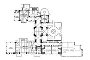 Mediterranean Style House Plan - 4 Beds 5 Baths 4761 Sq/Ft Plan #426-19 Floor Plan - Main Floor Plan