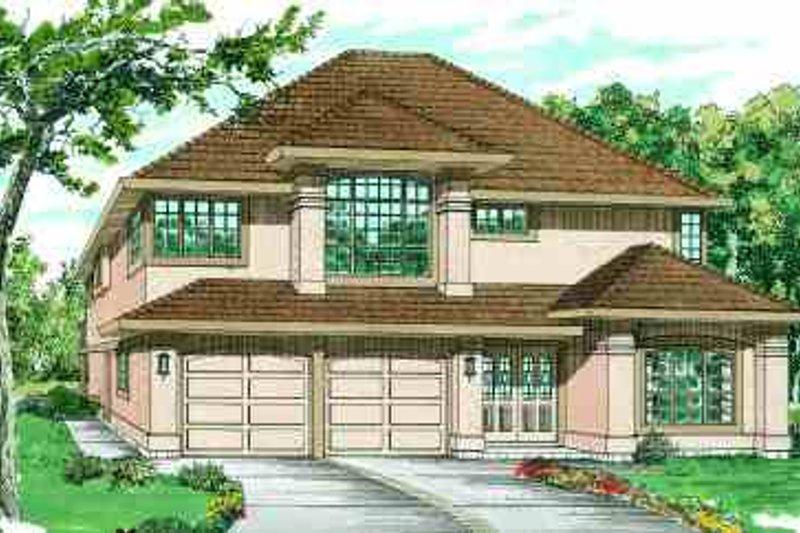 European Style House Plan - 3 Beds 2 Baths 1696 Sq/Ft Plan #47-584
