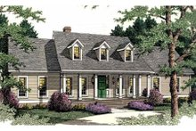Home Plan - Southern Exterior - Front Elevation Plan #406-274