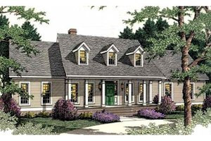 Dream House Plan - Southern Exterior - Front Elevation Plan #406-274