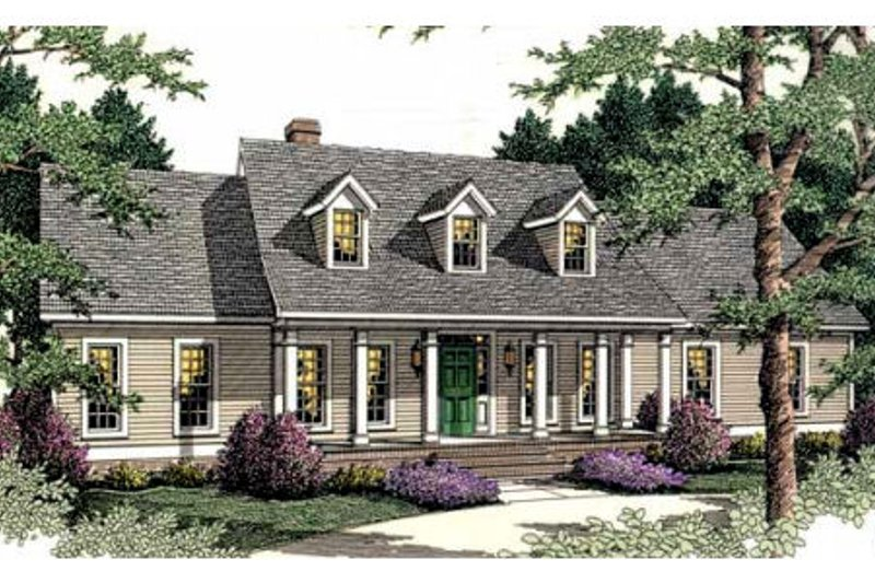 Southern Exterior - Front Elevation Plan #406-274