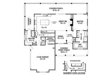 Farmhouse Floor Plan - Main Floor Plan Plan #119-433