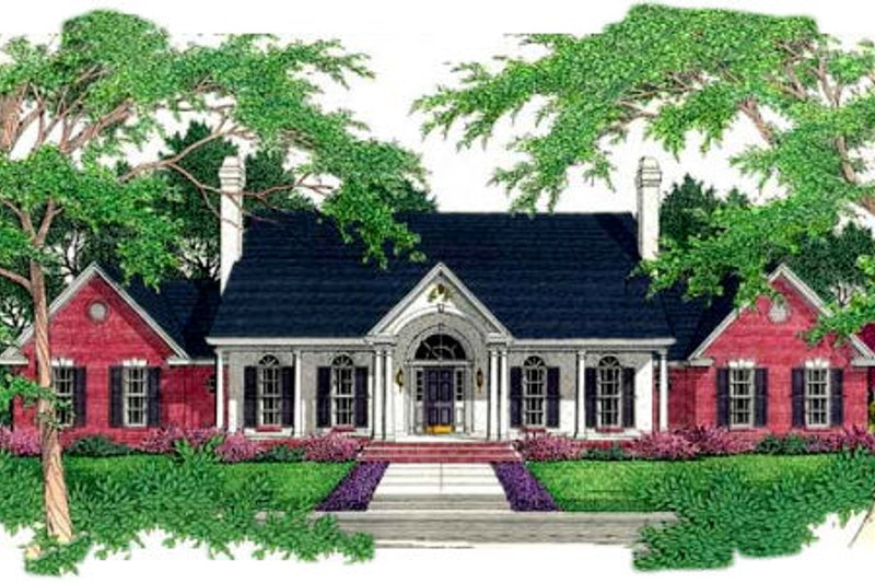 Southern Exterior - Front Elevation Plan #406-176 - Houseplans.com