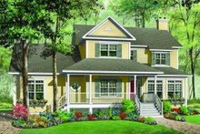 Dream House Plan - Traditional Exterior - Front Elevation Plan #23-378