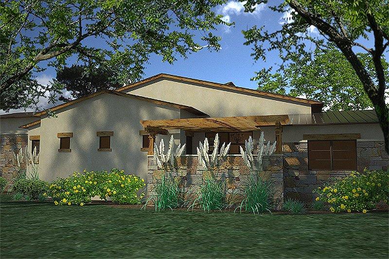 Contemporary Exterior - Other Elevation Plan #120-188 - Houseplans.com