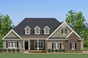 Traditional Style House Plan - 3 Beds 2.5 Baths 2450 Sq/Ft Plan #898-14 Exterior - Front Elevation