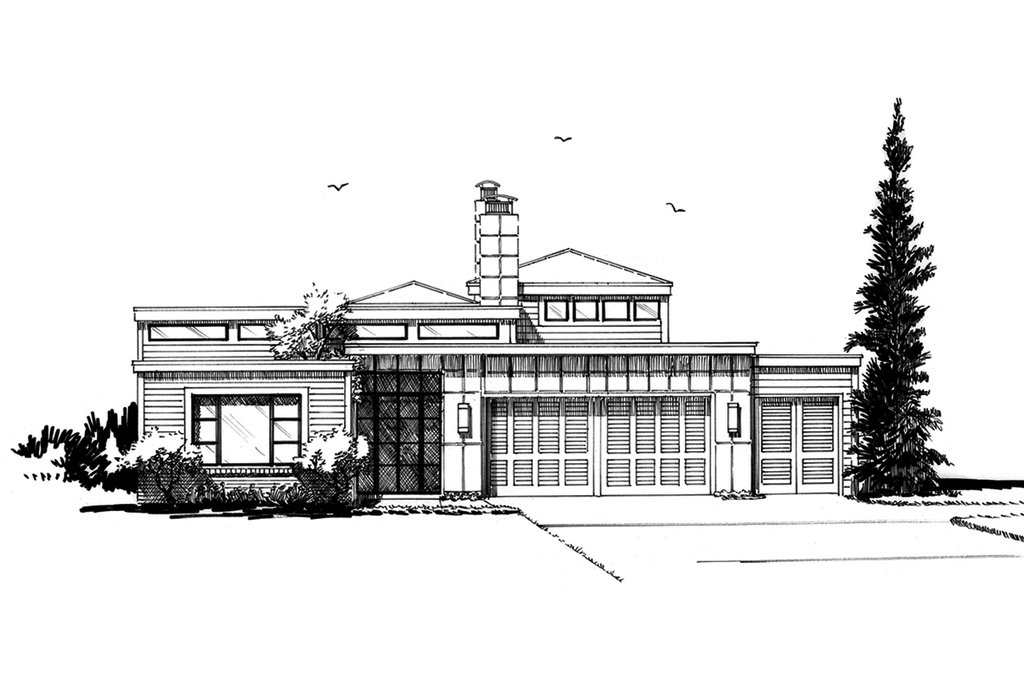 contemporary style house plan - 3 beds 3 5 baths 2090 sq  ft plan  942-49