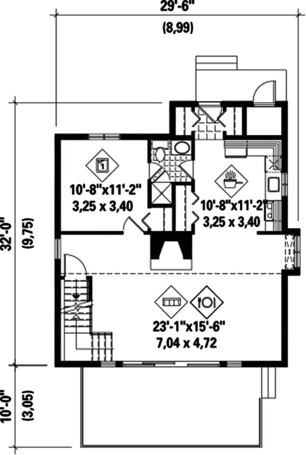 Cottage Floor Plan - Main Floor Plan Plan #25-4419