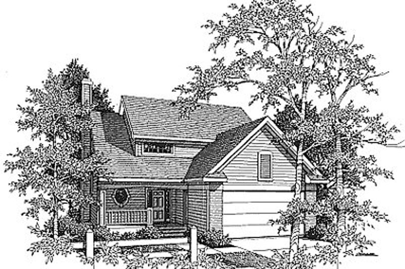 Traditional Exterior - Front Elevation Plan #70-176 - Houseplans.com