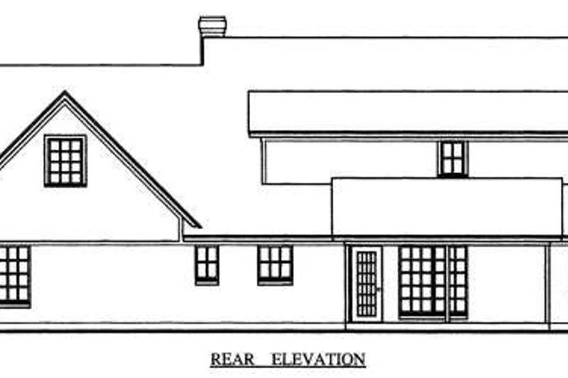 Country Exterior - Rear Elevation Plan #42-346 - Houseplans.com