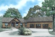 Craftsman Style House Plan - 4 Beds 4 Baths 3140 Sq/Ft Plan #17-2486 Exterior - Other Elevation