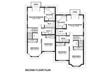 Victorian Floor Plan - Upper Floor Plan Plan #126-152