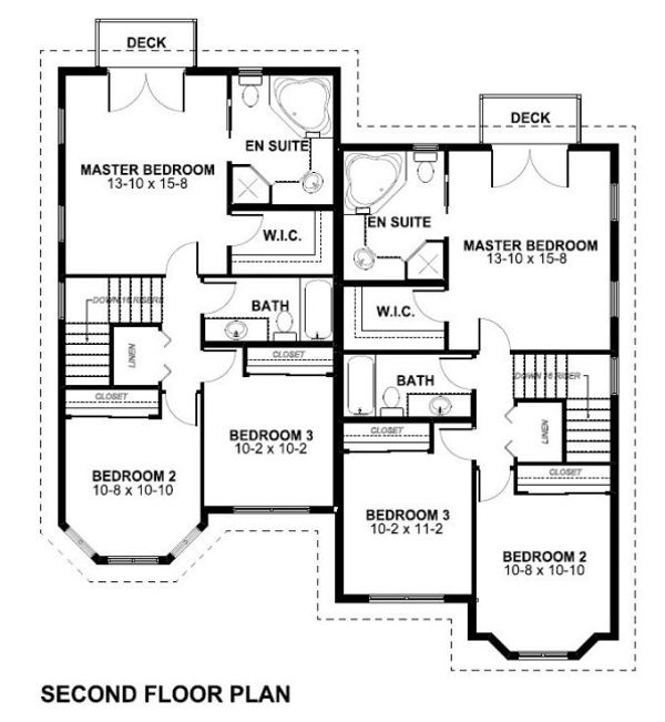 Victorian Floor Plan - Upper Floor Plan Plan #126-152