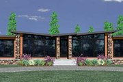 Modern Style House Plan - 2 Beds 2 Baths 1340 Sq/Ft Plan #509-5 Exterior - Front Elevation