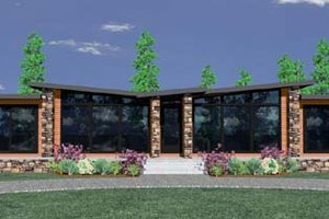 Modern Exterior - Front Elevation Plan #509-5