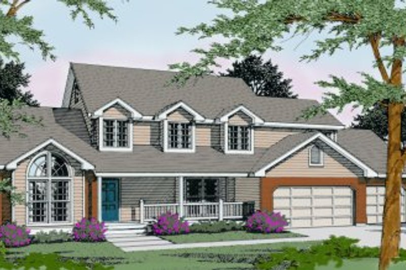 Country Exterior - Front Elevation Plan #100-219