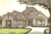 Tudor Style House Plan - 3 Beds 2 Baths 2088 Sq/Ft Plan #310-533 Exterior - Front Elevation