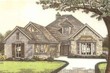 House Design - Tudor Exterior - Front Elevation Plan #310-533