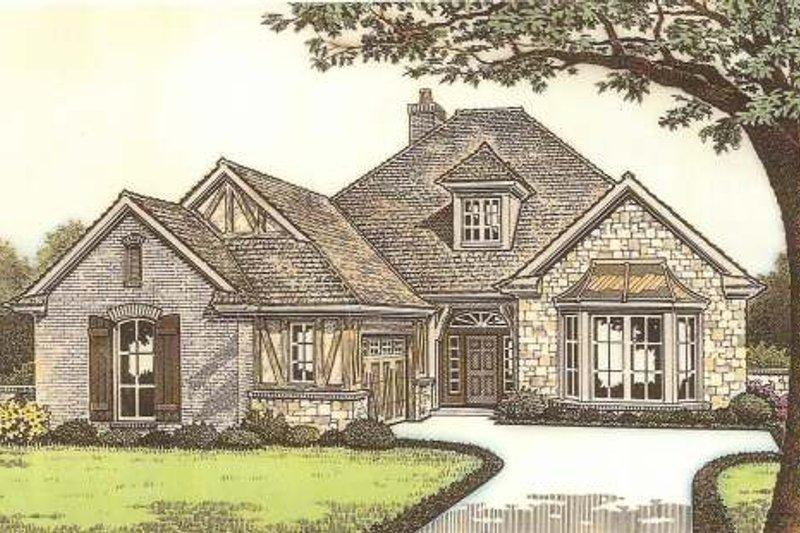 Architectural House Design - Tudor Exterior - Front Elevation Plan #310-533