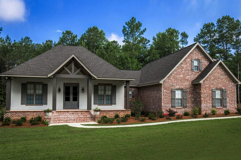 Country Exterior - Front Elevation Plan #430-176
