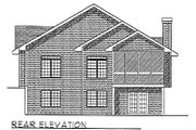 Traditional Style House Plan - 2 Beds 2 Baths 1675 Sq/Ft Plan #70-167 Exterior - Rear Elevation