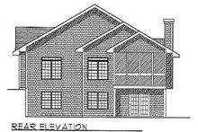 Traditional Exterior - Rear Elevation Plan #70-167