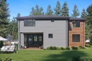 Contemporary Style House Plan - 4 Beds 3 Baths 3980 Sq/Ft Plan #1066-62 Exterior - Rear Elevation