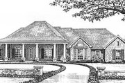 European Style House Plan - 3 Beds 2 Baths 2061 Sq/Ft Plan #310-591 Exterior - Front Elevation