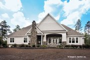 Craftsman Style House Plan - 4 Beds 3 Baths 2533 Sq/Ft Plan #929-24 Exterior - Rear Elevation