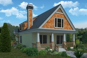 Dream House Plan - Bungalow Exterior - Front Elevation Plan #30-338