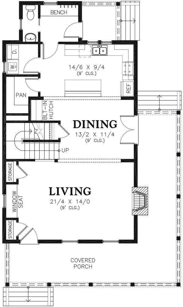 Farmhouse Floor Plan - Main Floor Plan Plan #48-964