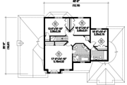 Traditional Style House Plan - 3 Beds 1 Baths 1280 Sq/Ft Plan #25-4670 Floor Plan - Upper Floor Plan