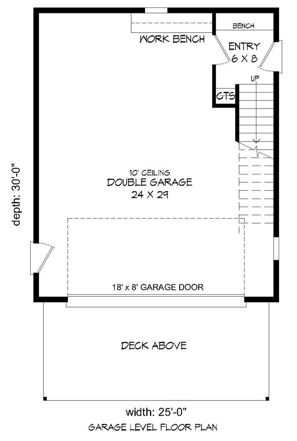 Contemporary Floor Plan - Lower Floor Plan Plan #932-95