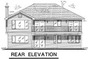 Ranch Style House Plan - 3 Beds 2 Baths 1285 Sq/Ft Plan #18-160 Exterior - Rear Elevation