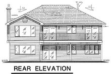 Ranch Exterior - Rear Elevation Plan #18-160