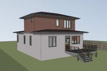 Architectural House Design - Modern Exterior - Rear Elevation Plan #79-302