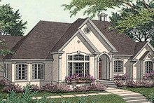 Architectural House Design - European Exterior - Front Elevation Plan #406-186