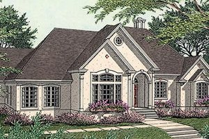 European Exterior - Front Elevation Plan #406-186